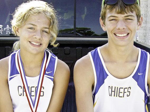 Benjamin and Christian Jenerette, North Myrtle Beach High School Cross Country 2008